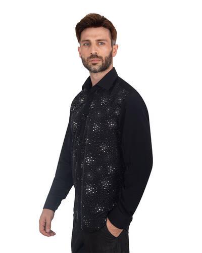 MAKROM - Luxury Mens Accessoried Shirt SL 7075 (1)