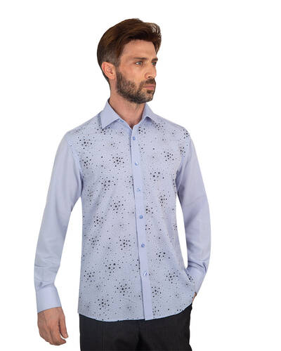 MAKROM - Luxury Mens Accessoried Shirt SL 7075 (Thumbnail - )