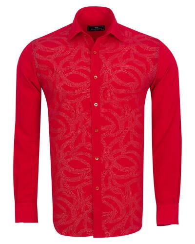 MAKROM - Luxury Mens Accessoried Shirt SL 7076 (Thumbnail - )