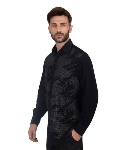 MAKROM - Luxury Mens Accessoried Shirt SL 7078 (1)