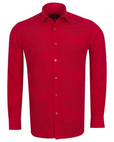 MAKROM - Luxury Mens Accessoried Shirt SL 7078 (Thumbnail - )