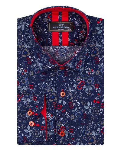 Luxury Mens Floral Printed Long Sleeved Shirt SL 7072