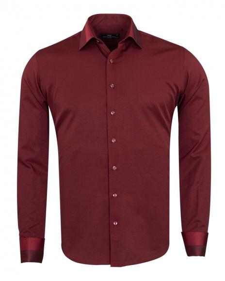 MAKROM - Luxury Mens Long Sleeved Dress Shirt SL 6745 (Thumbnail - )