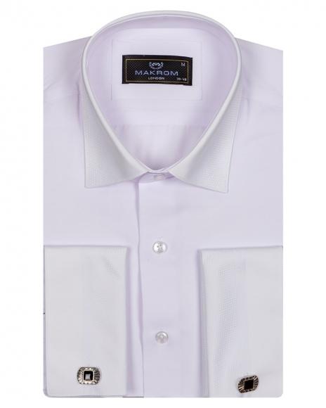 MAKROM - Luxury Mens Long Sleeved Dress Shirt SL 6745 (1)
