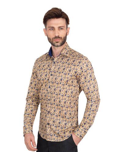 MAKROM - Luxury Mens Long Sleeved Floral Printed Shirt SL 7071 (1)