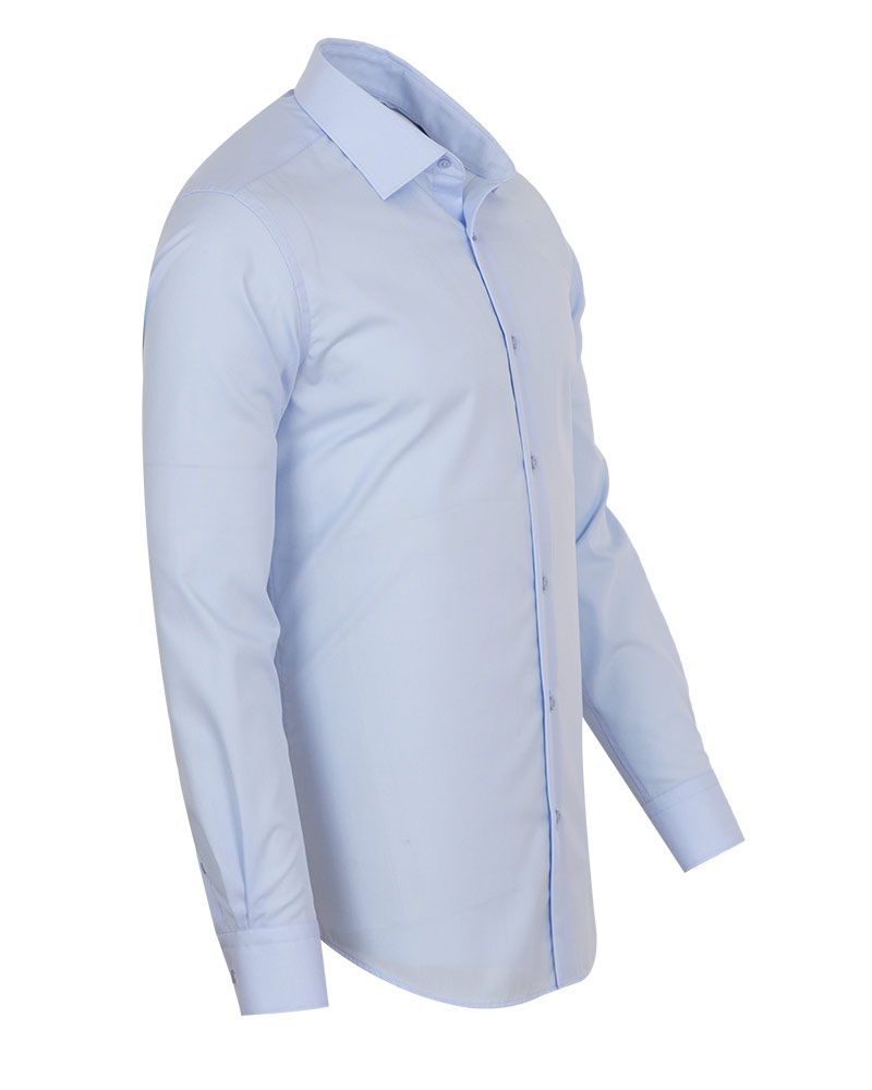 Luxury Mens Plain Long Sleeved Cotton Shirt SL 7121 - Thumbnail