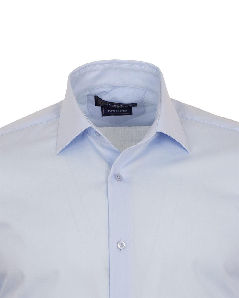 Luxury Mens Plain Long Sleeved Shirt with Necktie Set SL 7121K