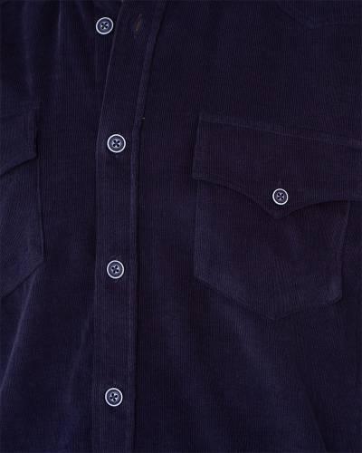MAKROM - Luxury Mens Pure Cotton Black Long Sleeved Shirt SL 7124 (1)