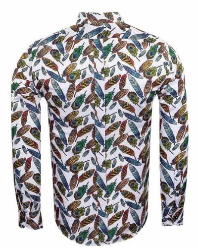 Luxury Nature Printed Long Sleeved Mens Shirt SL 6929