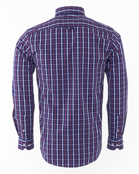 Oscar Banks - Luxury Oscar Banks Check Classical Long Sleeved Mens Shirt SL 5844 (1)