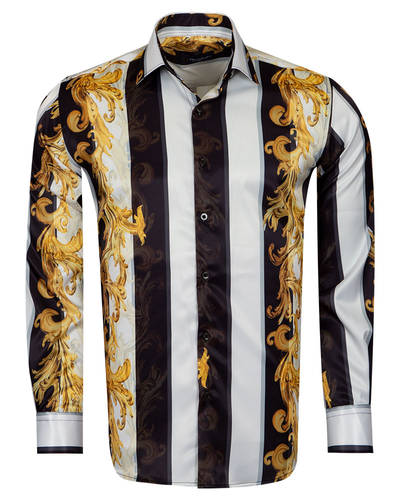 Luxury Oscar Banks Satin Mens Shirt For Mens SL 6940