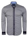 Luxury Paisley Printed and Striped Long Sleeved Mens Shirt SL 524 - Thumbnail