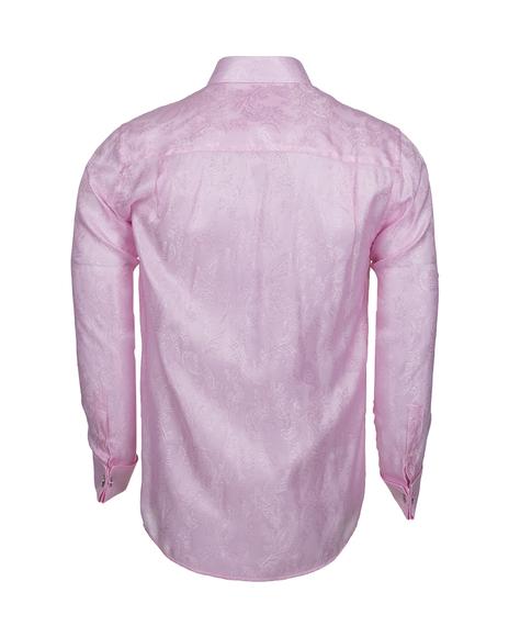 Luxury Paisley Printed Satin Long Sleeved Mens Shirt SL 446