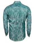 Luxury Paisley Printed Satin Long Sleeved Mens Shirt SL 446 - Thumbnail