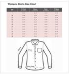 Luxury Paisley Printed White Womens Shirt LL 3323 - Thumbnail