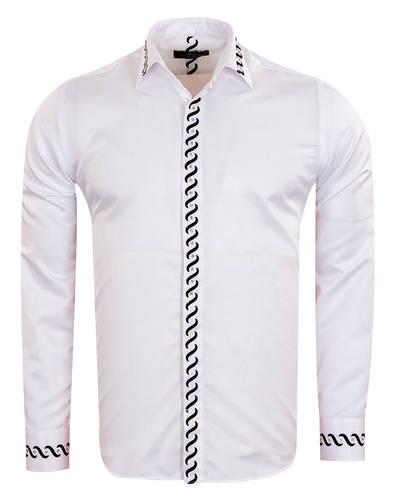 MAKROM - Luxury Patterns Printed Long Sleeved Fashion Mens Shirt SL 6901