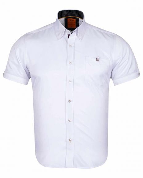 MAKROM - Luxury Plain Short Sleeved Shirt SS 6084