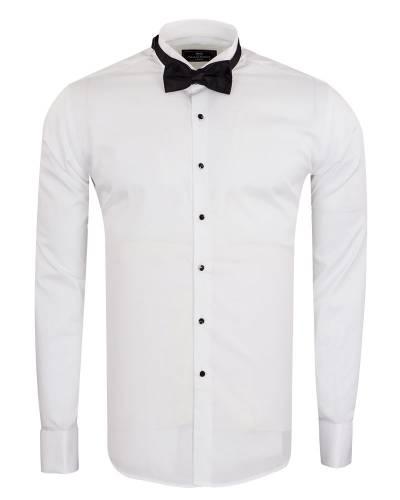 MAKROM - Luxury Plain Wing Collar Mens Shirt SL 7019