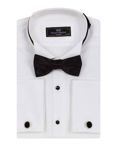 MAKROM - Luxury Plain Wing Collar Mens Shirt SL 7019 (1)