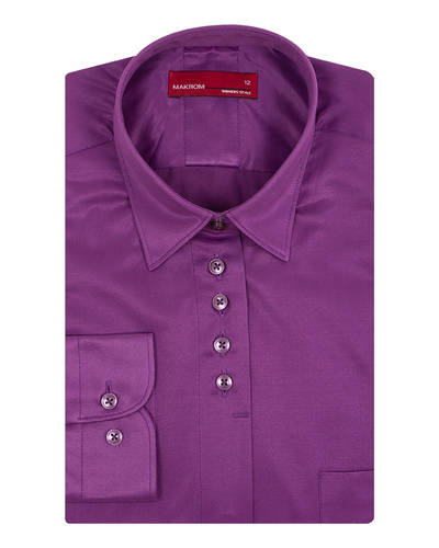 MAKROM - Luxury Plain Womens Shirt with Live Colors LL 3327