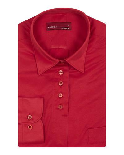 MAKROM - Luxury Plain Womens Shirt with Live Colors LL 3327 (Thumbnail - )