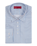 Luxury Polka Dot Printed Womens Shirt LL 3310 - Thumbnail
