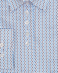 Luxury Polka Dot Printed Womens Shirt LL 3310 - Thumbnail