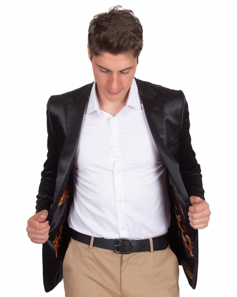 Luxury Polka Dot Textured Mens Blazer J 226