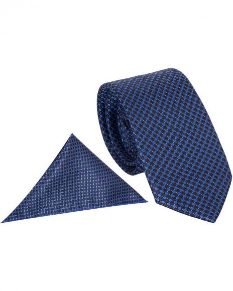 MAKROM - Luxury Polka Dot Textured Quality Necktie KR 12 (Thumbnail - )