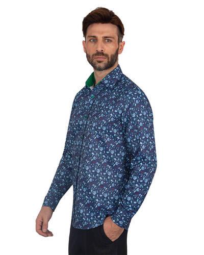 Luxury Printed Long Sleeved Mens Shirt SL 7082