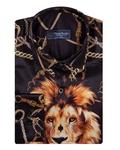 Luxury Printed Long Sleeved Satin Mens Shirt SL 6934 - Thumbnail