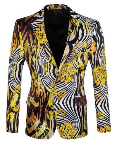 Oscar Banks - Luxury Printed Mens Blazer J 290