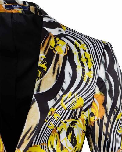 Oscar Banks - Luxury Printed Mens Blazer J 290 (1)