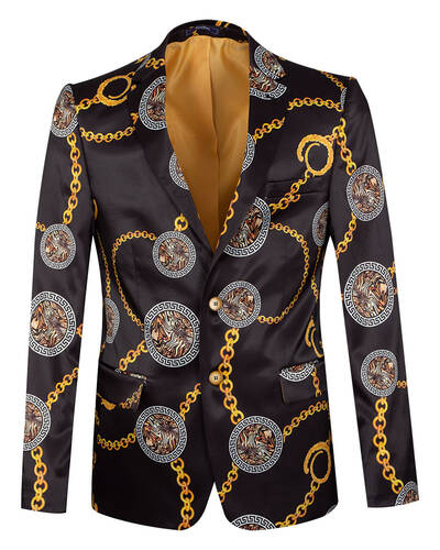Oscar Banks - Luxury Printed Mens Blazer J 300