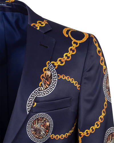 Luxury Printed Mens Blazer J 300