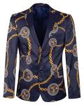 Luxury Printed Mens Blazer J 300 - Thumbnail