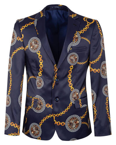 Oscar Banks - Luxury Printed Mens Blazer J 300 (Thumbnail - )
