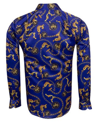 Luxury Printed Mens Satin Shirt SL 7104