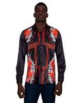 Luxury Printed Satin Mens Shirt SL 6831 - Thumbnail