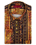 Luxury Satin Black Long Sleeved Womens Shirt LL 3322 - Thumbnail