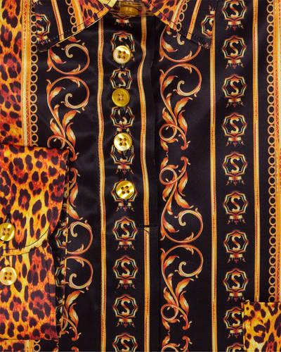 MAKROM - Luxury Satin Black Long Sleeved Womens Shirt LL 3322 (1)