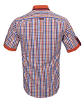 Luxury Short Sleeved Check Shirt With Chest Pocket SS 6042 - Thumbnail