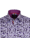 Luxury Short Sleeved Floral Printed Mens Shirt SS 6845 - Thumbnail