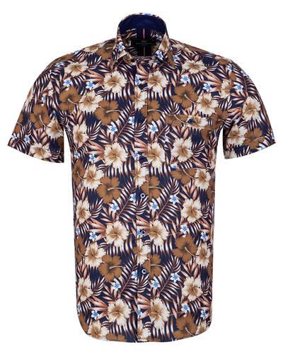 MAKROM - Luxury Short Sleeved Printed Mens Shirt SS 7054