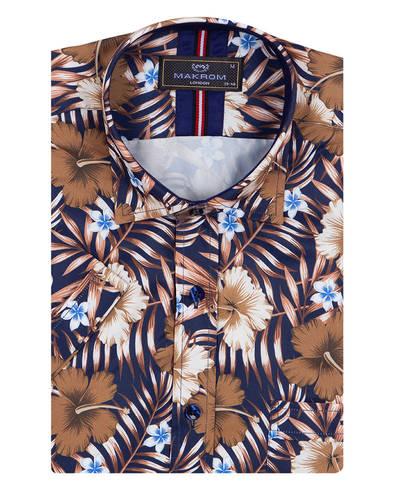 MAKROM - Luxury Short Sleeved Printed Mens Shirt SS 7054 (1)