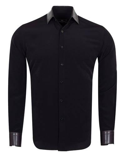 MAKROM - Luxury Skin Like Covered Plain Fashion Mens Shirt SL 6983