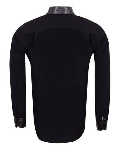 MAKROM - Luxury Skin Like Covered Plain Fashion Mens Shirt SL 6983 (1)