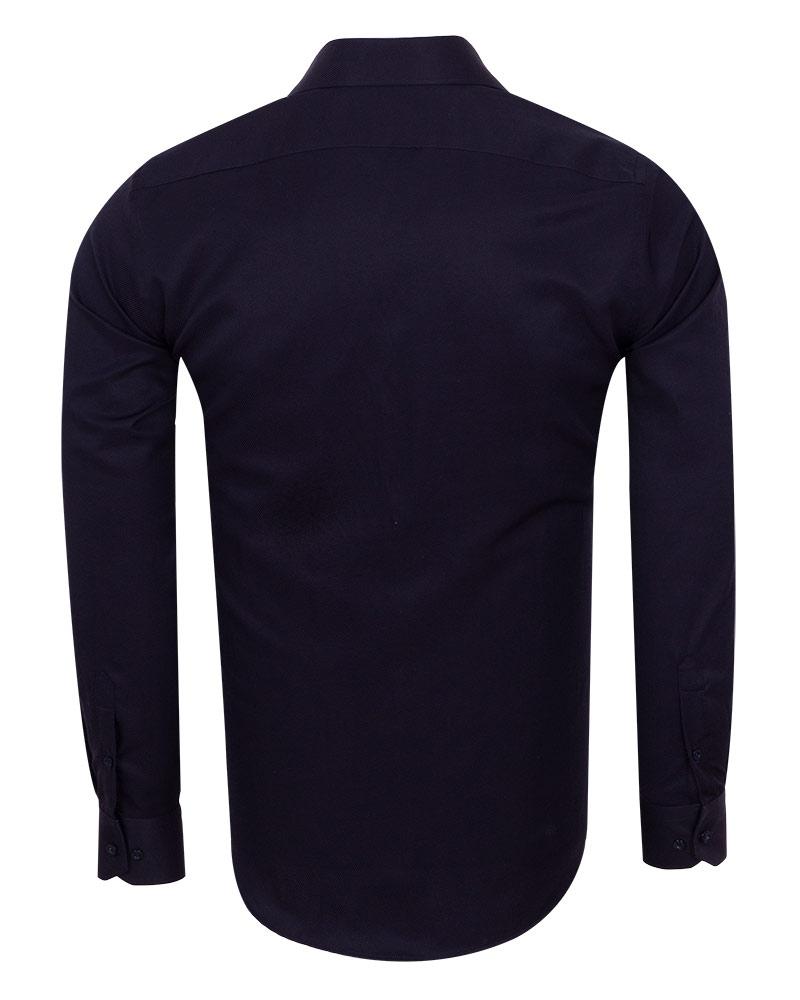 Luxury Strip Textured Long Sleeved Shirt SL 7120 - Thumbnail