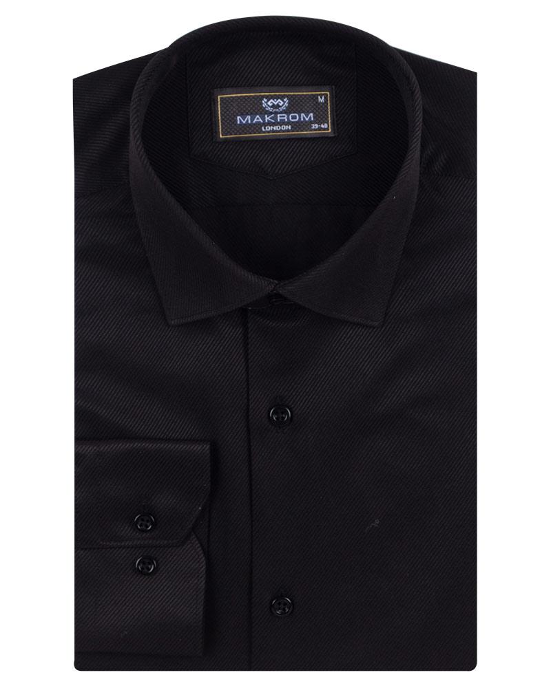 Luxury Strip Textured Long Sleeved Shirt SL 7120