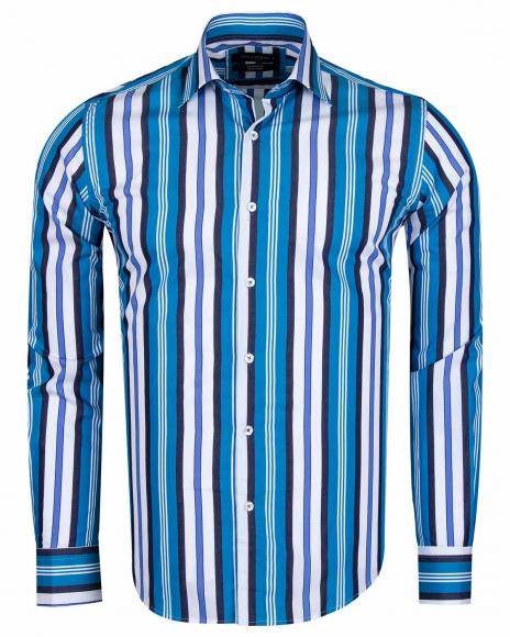 MAKROM - Luxury Striped Long Sleeved Mens Shirt SL 5405-A